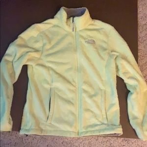 Lime The North Face fuzzy coat M